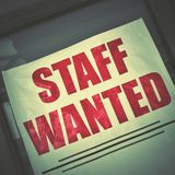 Affisch för jobbvakans royaltyfri fotografi
