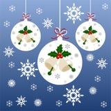 Affisch för jul och nytt års Arkivbild