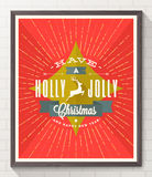 Affisch för jultypdesign Arkivfoto