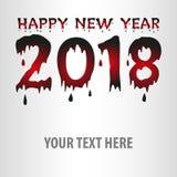 Affisch för lyckligt nytt år, reklamblad, vektor Royaltyfri Fotografi