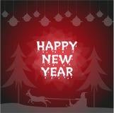 Affisch för lyckligt nytt år, reklamblad, vektor, Royaltyfria Foton