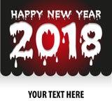 Affisch för lyckligt nytt år, reklamblad, vektor Arkivfoto