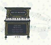 Affisch för pianokonserten med melodi royaltyfri illustrationer