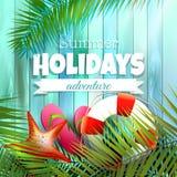 Affisch för sommarferier Royaltyfria Bilder