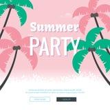 Affisch för sommarpartiillustration vektor illustrationer