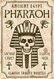 Affisch för tappning för forntida Egypten loppadvertizing Vektor Illustrationer