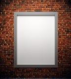Affisch för tomt utrymme eller konstram som väntar för att fyllas Arkivfoto