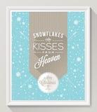Affisch för jultypdesign Royaltyfria Bilder