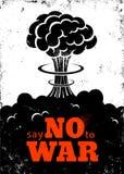 Affisch inget krig stock illustrationer
