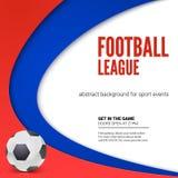 Affisch med att spela bollen som annonserar för världsmästerskap Bakgrund av den fotboll- eller fotbollvärldsmästerskapet 2018 vektor illustrationer