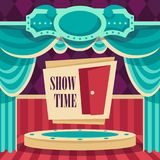 Affisch med platsen för showen, vektor Arkivbild
