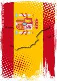 affisch spain Royaltyfri Fotografi