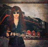 Affisch Steampunk Arkivfoto