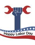 Affisch USA för arbets- dag stock illustrationer