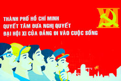 affisch vietnam royaltyfri fotografi