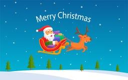 Affischbakgrund för glad jul Arkivfoto