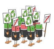 Affischbatterier slår för ekologi och renlighet också vektor för coreldrawillustration royaltyfri illustrationer