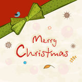 Affischdesign av beröm för glad jul Royaltyfria Bilder