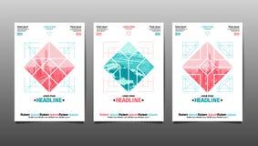Affischdesignmall, abstrakt bakgrund Fotografering för Bildbyråer