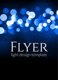 Affischdesignmall med ljus effekt för bokeh Modernt kortbegrepp för vektor Semestra reklambladmallen för konsert eller visa parti royaltyfri illustrationer