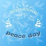 Affischen för ferie för internationalen för jord för dagen för världsfred skissar stock illustrationer