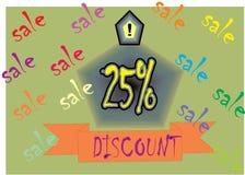 AFFISCHEN för modellen PENNER för rabatten för sharpe för den MÅNG- SHAPE MASALA CREDAM SHAP 25% RABATTEN avbildar den toppna royaltyfri illustrationer