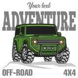 Affischen för lastbilen för trofén för bilav-vägen 4x4 suv färgade Arkivfoto