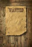 affischen önskade västra wild Arkivfoton