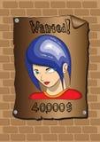 Affischer av en önskad bandit Arkivfoton