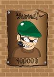 Affischer av en önskad bandit Arkivbild