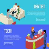 Affischer 3D för liv för företags kontor isometriska vektor illustrationer