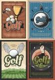 Affischer för spelare för klubba för skola för mästareligagolf royaltyfri illustrationer