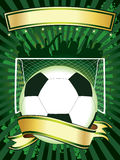 affischfotboll vektor illustrationer
