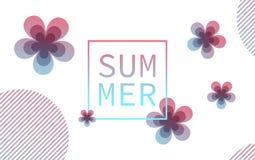 Affischtavla med stiliserade blommor Arkivfoton