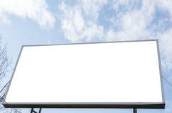 Affischtavla med vitt utrymme för gator som annonserar arkivbilder