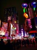 Affischtavlor kvadrerar tidvis, New York, USA Royaltyfri Fotografi