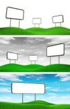 Affischtavlor på gräs vektor illustrationer
