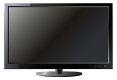 Affissione a cristalli liquidi dello schermo piano della TV royalty illustrazione gratis