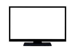 Affissione a cristalli liquidi dello schermo piano della TV Fotografia Stock Libera da Diritti