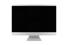 Affissione a cristalli liquidi dello schermo piano della TV, derisione realistica del plasma TV su Monito nero di HD Immagini Stock Libere da Diritti