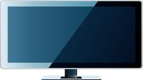 Affissione a cristalli liquidi dello schermo piano della TV, plasma Fotografia Stock