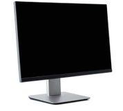 Affissione a cristalli liquidi dello schermo piano della TV, plasma, derisione della TV su Modello nero del monitor di HD Immagine Stock Libera da Diritti