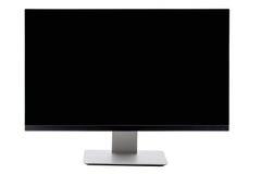 Affissione a cristalli liquidi dello schermo piano della TV, plasma, derisione della TV su Monitor nero di HD Immagine Stock Libera da Diritti