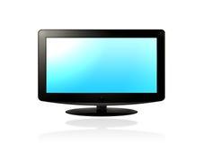 Affissione a cristalli liquidi HD TV (blu) Fotografia Stock Libera da Diritti