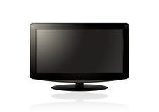Affissione a cristalli liquidi HD TV (il nero) Fotografia Stock