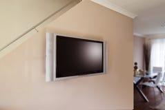 Affissione a cristalli liquidi o plasma TV Fotografia Stock Libera da Diritti