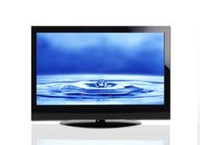 Affissione a cristalli liquidi piana del plasma della TV Fotografie Stock