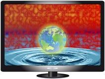 Affissione a cristalli liquidi TV del plasma Immagini Stock