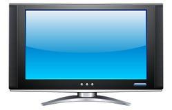 Affissione a cristalli liquidi TV del plasma Fotografia Stock Libera da Diritti