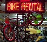 Affitti della bici Fotografia Stock Libera da Diritti
